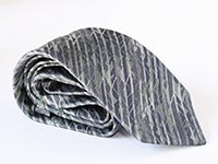London - Gherkin, diamond windows - woven silk tie