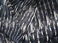 London - Gherkin, diamond windows - fabric, single georgette and silk light crepe de chine