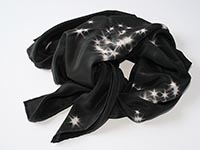 Star Water silk scarf