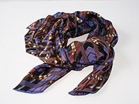 New York Skyscrapers - silk scarf, single georgette & light crepe de chine, square