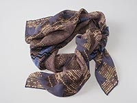 New York Skyscrapers (Aztec) - silk scarf, single georgette & light crepe de chine, square