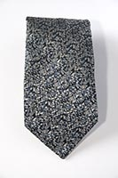 London, Canary Wharf, gold - woven silk tie (pattern detail) 8cm at widest point