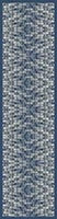 London, Canary Wharf - blue -silk scarf, long 168cm x 42cm