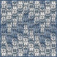 London, Canary Wharf - blue - silk scarf, square 90cm x 90cm