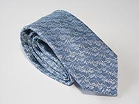 London, Canary Wharf - blue - woven silk tie