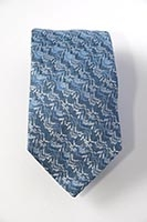London, Canary Wharf - blue - woven silk tie (pattern detail) 8cm at widest point