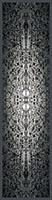 Canary Wharf Reflections, pattern - silk scarf, single georgette/light crepe de chine, long 168cm x 42cm