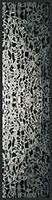 Canary Wharf Reflections - silk scarf, single georgette/light crepe de chine, long 168x42cm