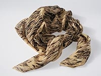 Gold Water - silk scarf, single georgette & light crepe de chine, square