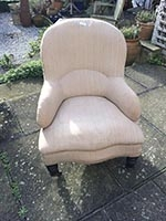 Chair - Victorian Spoon Back Easy Chair - large - before