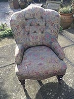 Chair - Victorian Spoon Back Easy Chair - small - before