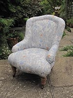 Chair - Victorian Spoon Back Easy Chair - small - front