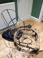 Chair - Victorian Spoon Back Easy chair - metal frame