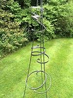 Curls and Swirls - plant obelisk