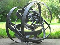 Ebb and Flow - Mild steel sculpture - 30x34x33cm