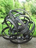 Ebb and Flow 8 - Mild steel sculpture 46x 46x 41cm