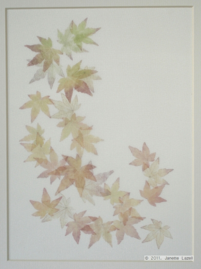 Mixed media-leaf printing 1