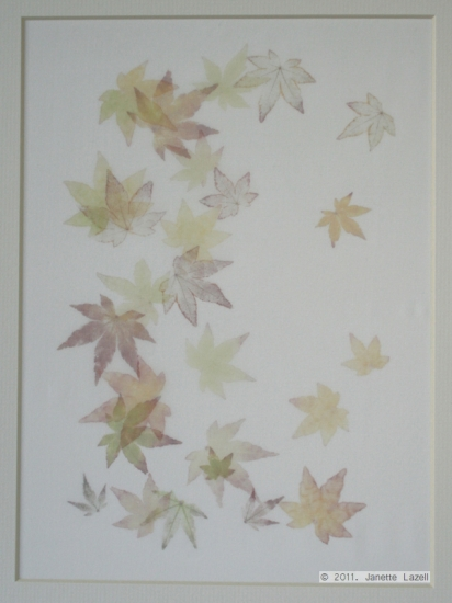 Mixed media-leaf printing 2