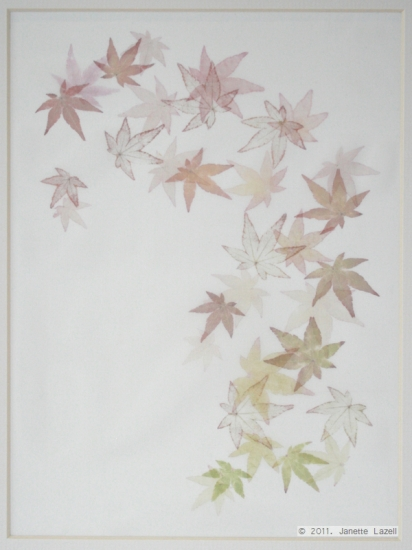 Mixed media-leaf printing 5
