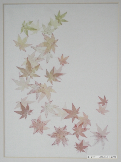 Mixed media-leaf printing 6