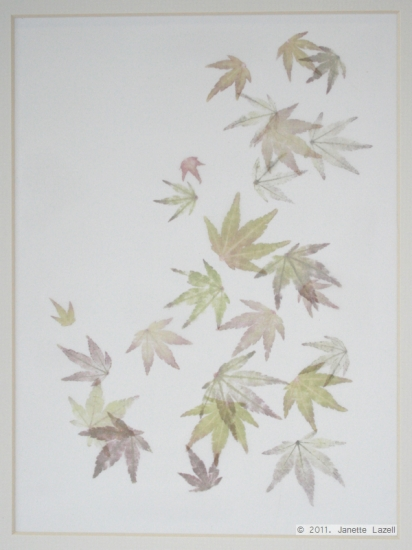 Mixed media-leaf printing 7