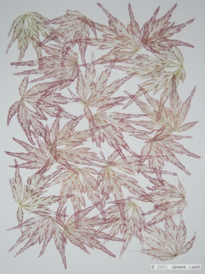Mixed media-leaf printing-paper 1