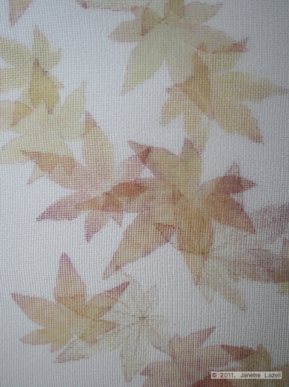 Mixed media-leaf printing