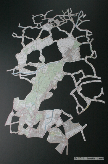Epping Map Tree-map cut out